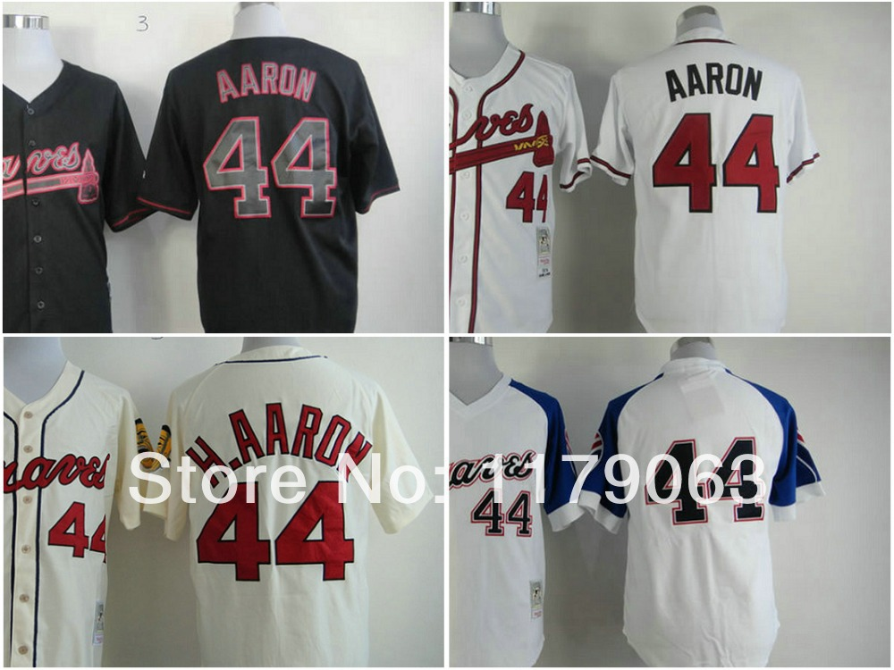 ecb133567 Free Shipping Cheap ... Regular Price  21.00. Special Price  21.00. Braves  44 Hank Aaron Red 1980 BP Throwback Jersey