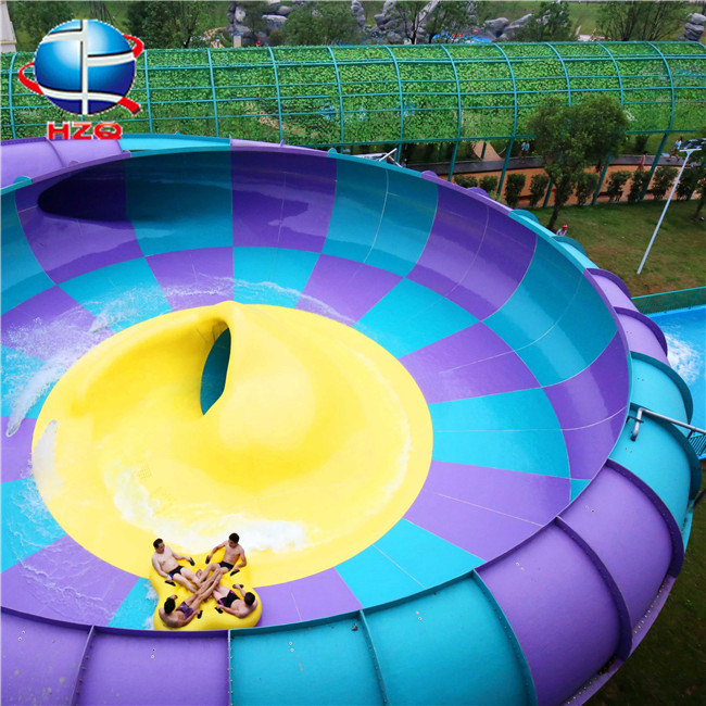 New arrvail build your own water slide+big bowl fiberglass water slide for aqua