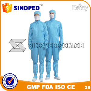 Lab or clean room wear disposable pp medical isolation gowns