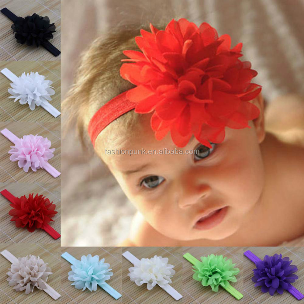 New Kids Baby Infant Sign Flower Lovely Headband Hairband Elastic Accessories