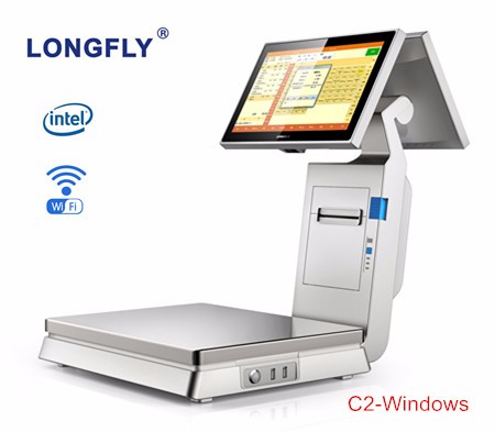POS for retail with scale Android system from LONGFLY