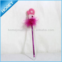 new lovely feather Pen for promotion