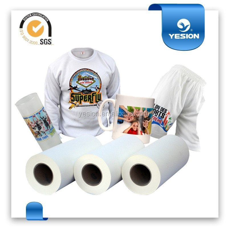 Yesion 2015 Best Sales ! China Manufacturer Roll Heat Sublimation Transfer Paper for Polyester Fabric Wholesale
