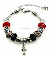 Fashion 7/7.5/8 inch Red Theme Wholesale Charms Bracelet Charms Stainless Steel Charms