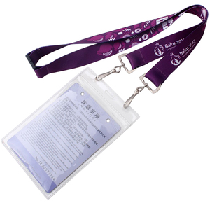 Flat polyester cheap personalize single custom sublimation id card holder lanyards with logo