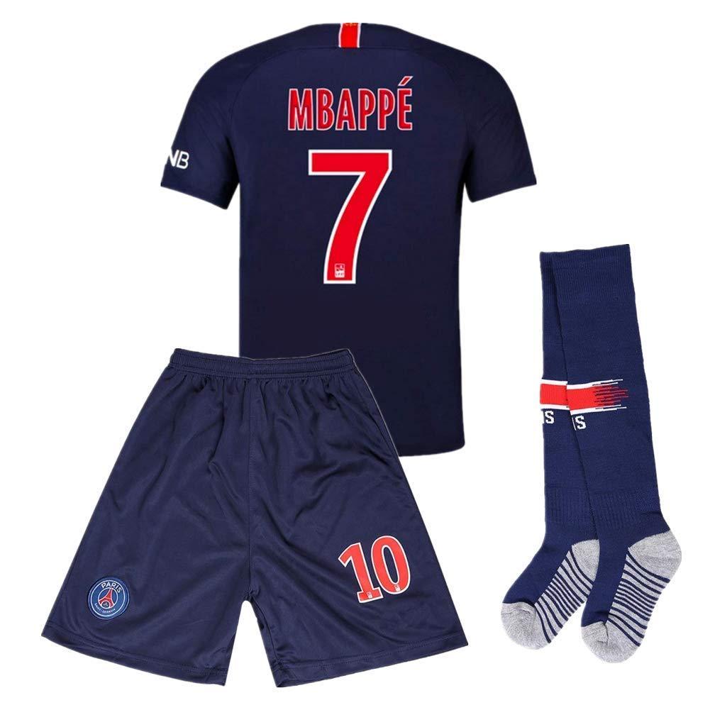 a7a33e33 Get Quotations · Mbappe 7 Paris St Germain (PSG) Home Kids Socce Jersey  2018/2019 Season