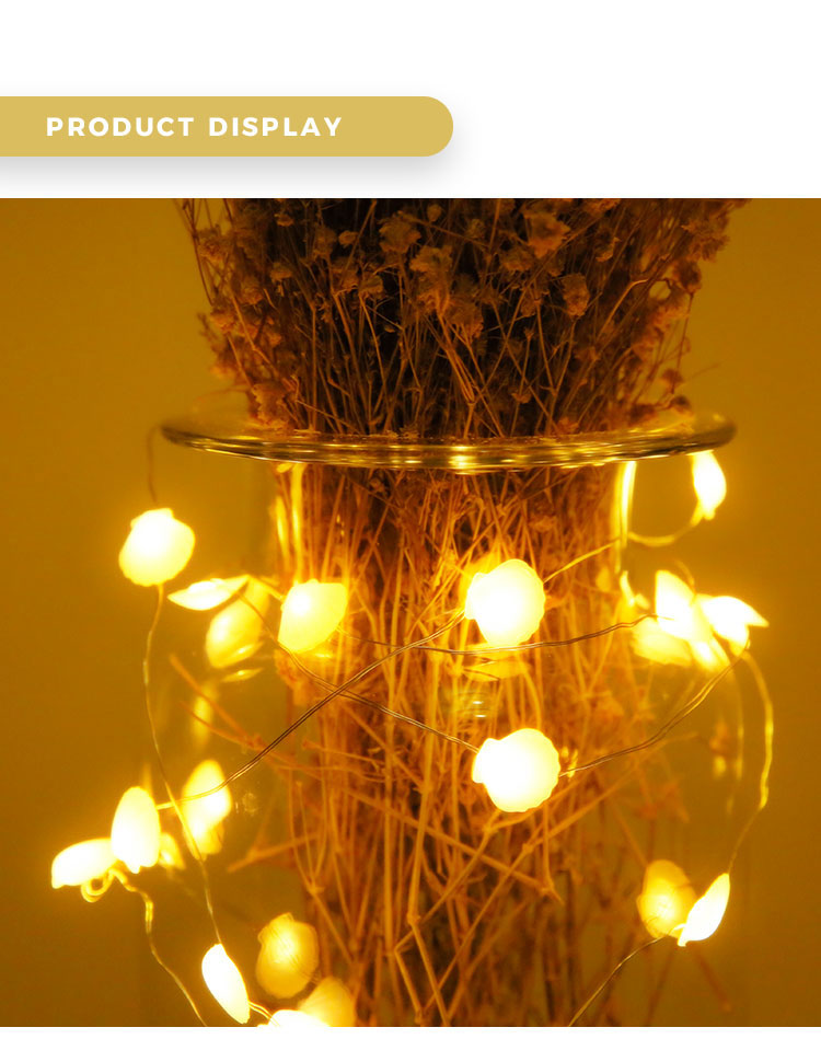 High quality mini led Christmas shell copper wire mini led string light