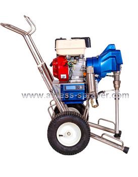 2.7L flow petrol airless paint machine with piston pump
