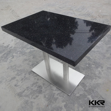 Big Size Hot Sale Ground Antique Square Bling Black Table