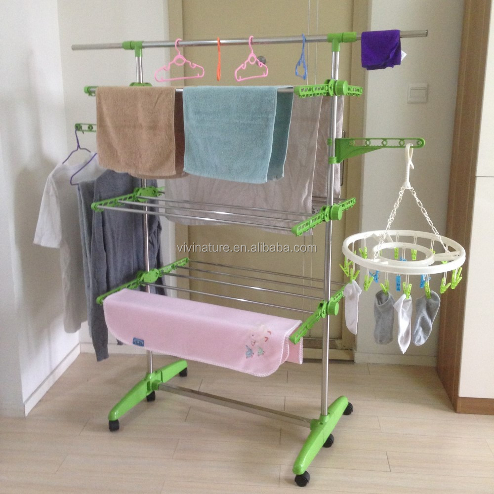 Foldable Multi Layer Cloth Rack Heavy Duty Laundry Dryer