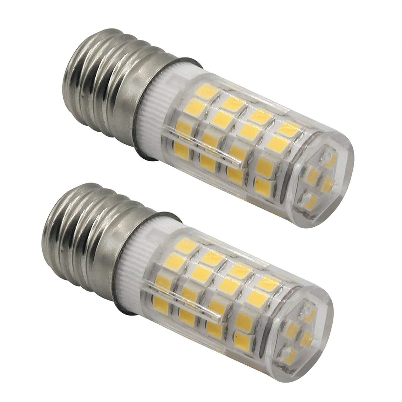 ChiChinLighting Pack of 2 T7 Ceramic E17 LED Microwave Oven Bulbs – 4W 6000k Intermediate Base Light Bulbs. Daylight LED Light Bulbs