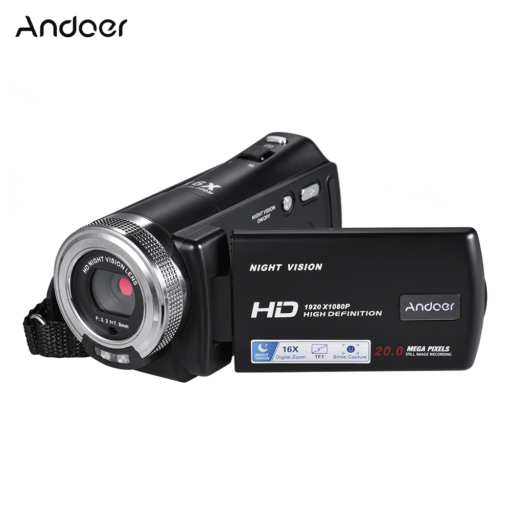 Andoer V12 1080 P Full HD 16X Dijital Zoom Kayıt Video Kamera D5082