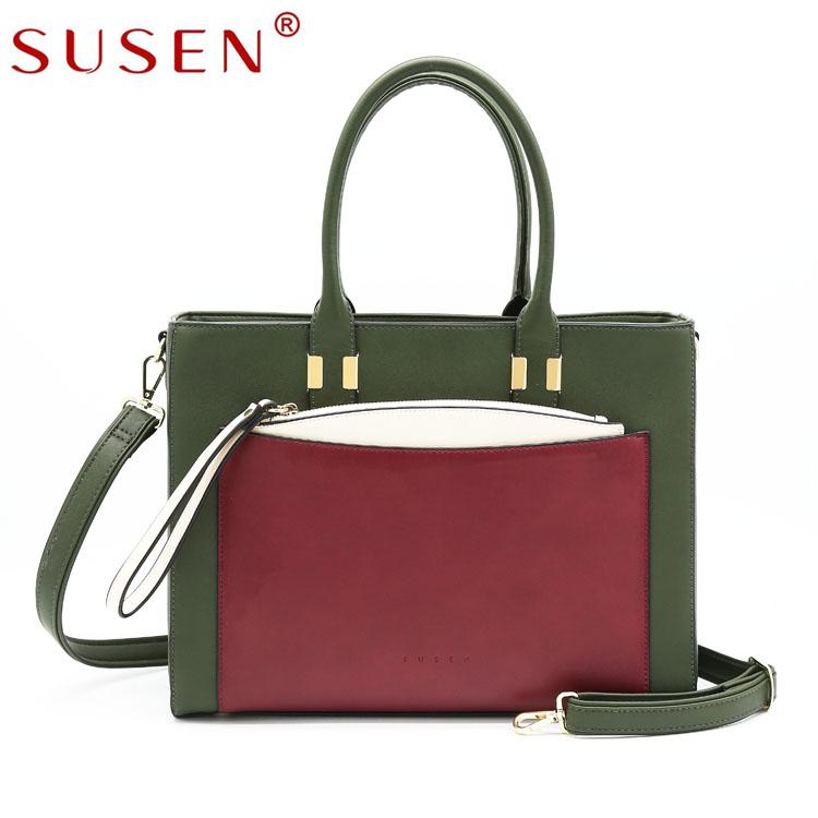 b16c121a2 SUSEN Dubai Fashion Leather Women Bag Lady Wholesale Cheap Handbags  Shoulder Long Strip Bag