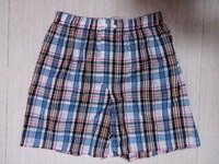 men's cheap price cotton yarn dyed boxer shorts checked boxer shorts cotton check underwear