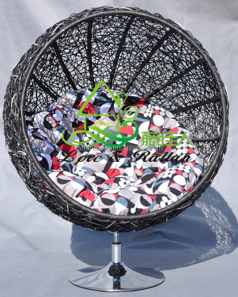 Natuurlijke ronde rotan rieten sofa lounge stoel tuinstoelen ...