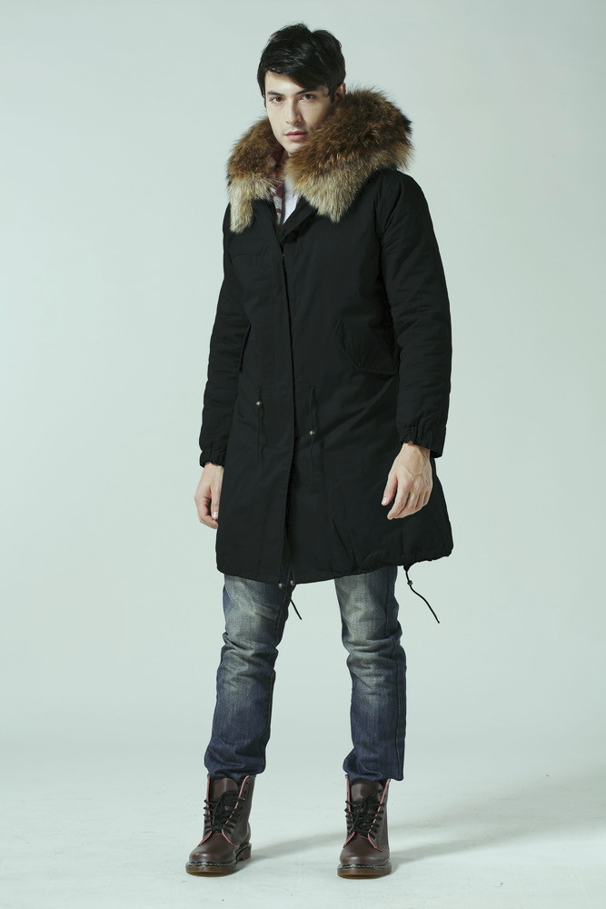 Black Fishtail Parka Men,Wholesale Korea Style Male China Discount ...