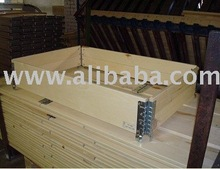 Wooden frame for pallets