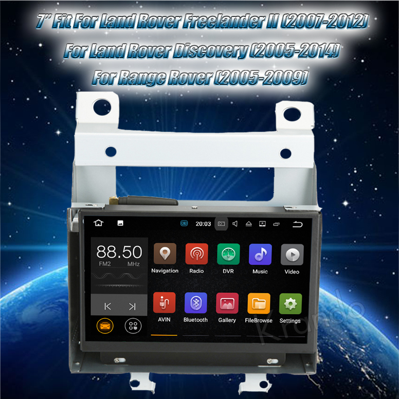 Krando Android 7.1 7'' touch screen car audio player for Land Rover Freelander II 2007-2012 gps navigation system wifi KD-LD727