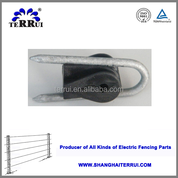 high quality electric fence wooden post plastic fence insulator staples for cattle fence
