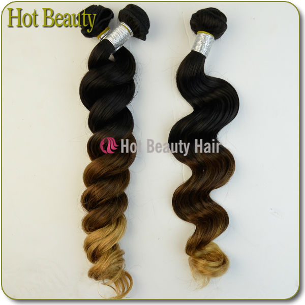 JP Hair New Fashion Style 100% ombre loose wave virgin hair weave