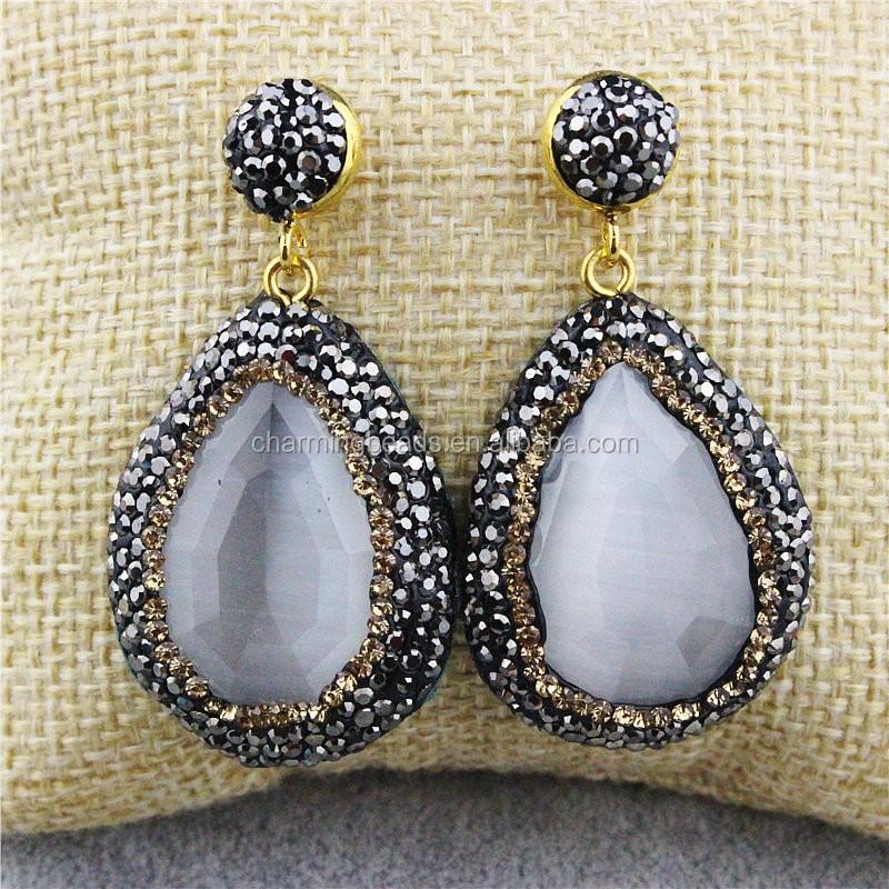 ... CH-MAE0137 Wholesale pave diamond jewelry stone earring d5e02ad92a3b
