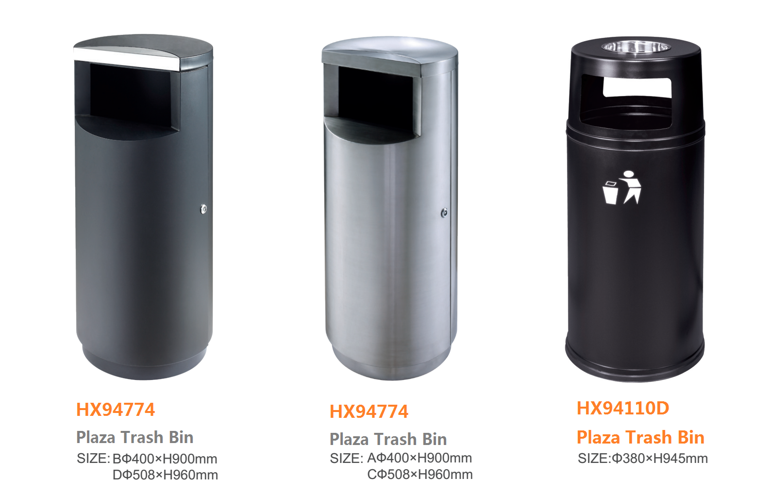 60L Outdoor trash recycling bin/ Waste container