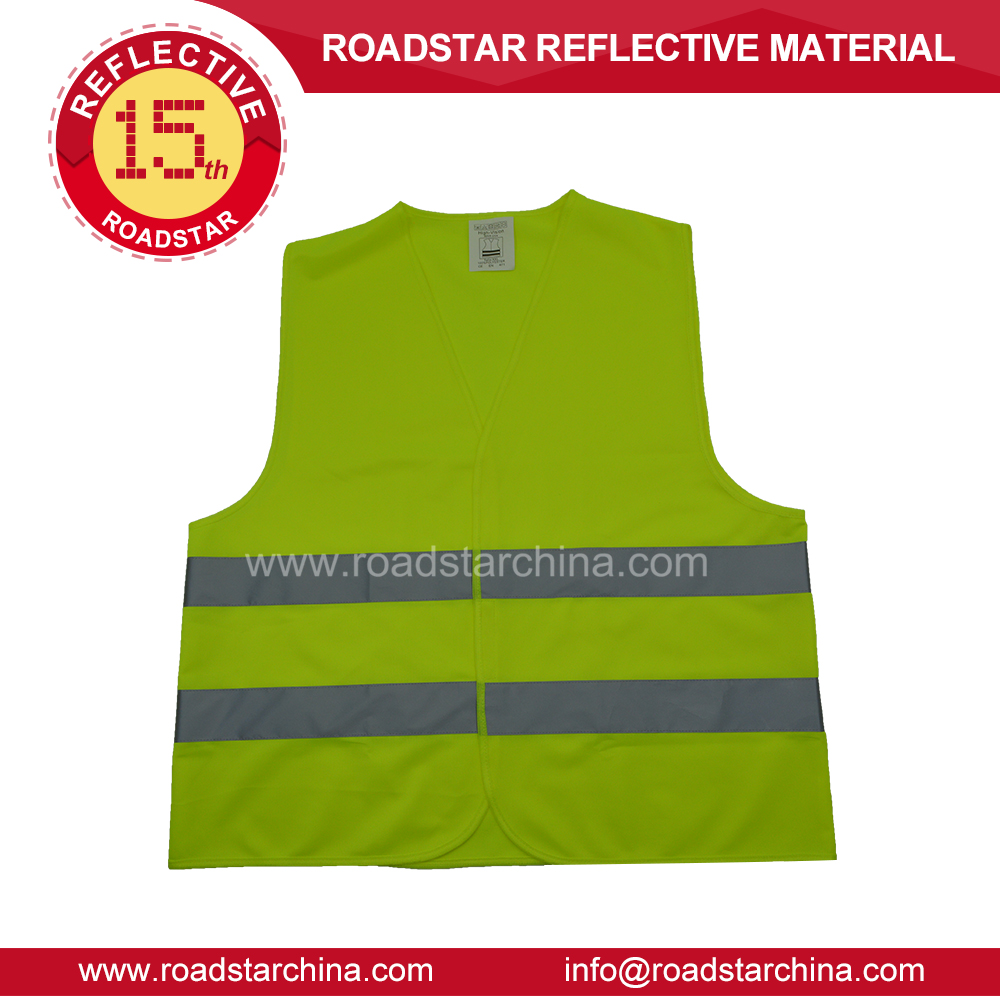 100% Polyester traffic reflective vest supplier in China