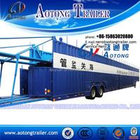 Heavy hauler ISO trailer for small car containing semi trailer air bag suspension