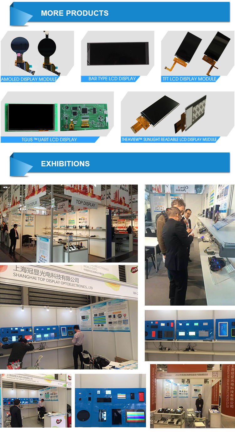 Mipi/rgb interface bar type 3.5 inch 340*800 ips lcd