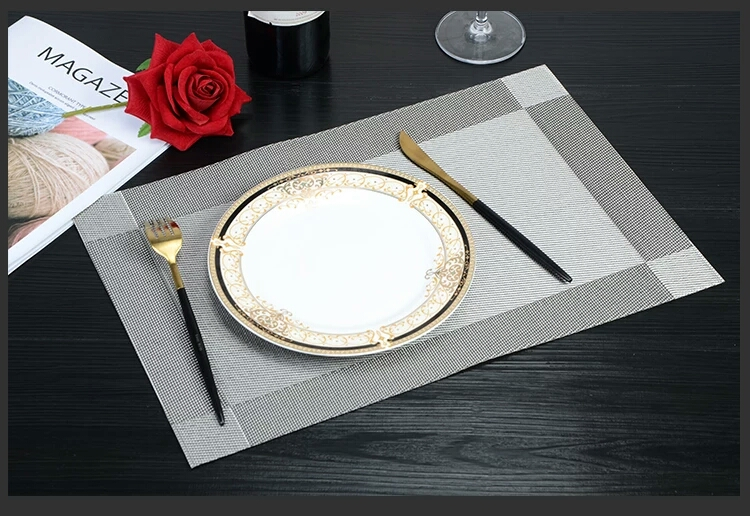 Tabletex cheap handmade folding custom anti slip plastic dining kitchen pvc table mat