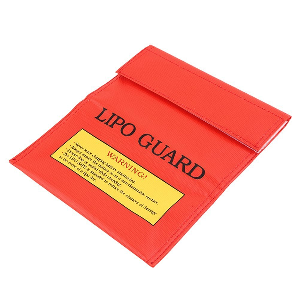 LEORX Fireproof Safety Guard Bag Sack Protective Storage Bag Pouch for RC LiPo Li-Po Battery - 18x23 cm