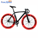 Made in China Fixed Gear Bike Carbon Steel Outdoor Sports Single Speed Urban Bike, Black/Red