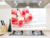 Waterproof red Flower Pattern wallpaper Aluminum Copper Foil Sticker Oil Proof Kitchen wall stickers home decoration