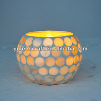 Mosaic shell candle holder turkish crafts moroccan style lamps YF0562