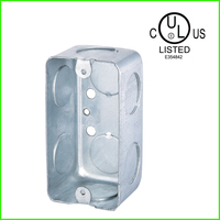 UL approved American standard rectangle metal galvanized wall box