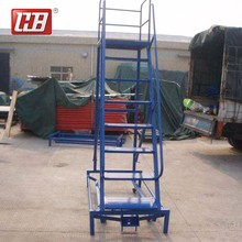 Q235 steel design step stand ladder extension outdoor industrial steel stairs