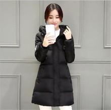 Korea font b Winter b font 2016 Latest Fashion Women Hooded Cotton Down Jacket Thicken Warm