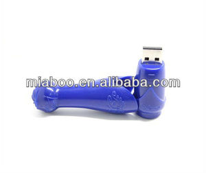 New mould design blower shaped plastic usb disk, customized hair drier usb