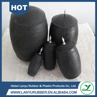 inflatable rubber pipe plug/ closed water test balloon for pipeline