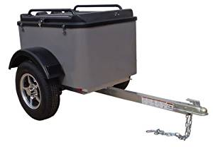 Hybrid Trailer Co. Vacationer - Enclosed Cargo Trailer, 990 lbs. Gross, 30 cu/ft. - Pewter