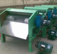 Four rollers waste textile recycling machine