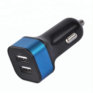 Mini dual usb port car charger for cell mobile phone
