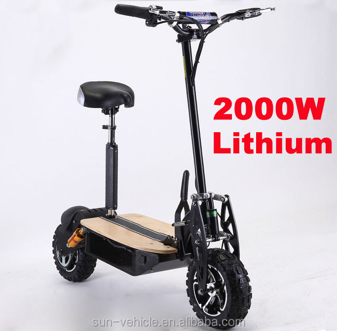 high quality 2 wheel lithium battery 60V 2000W electric scooter prices for adult with CE, Red;black;yellow;blue;orange