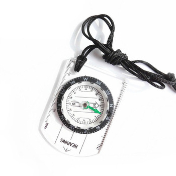 Travel Outdoor Camping Hiking Military ruler map scale compass ,Transparent Plastic Compass
