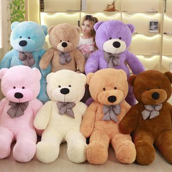 Promotional wholesale seven colors stuffed big giant teddy bear for sale