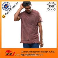 Oversized plain sleeveless t shirt with oil wash bulk blank t-shirts withhem extender