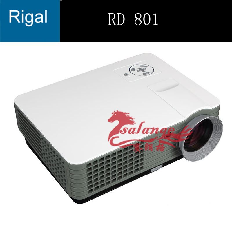 Original Full HD Projector Rigal RD-801 2000 Lumens Portable Multimedia Smart Lcd Led Video Projector for Home Theater