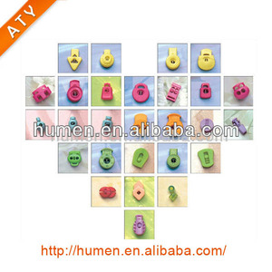 Various color plastic rope cord lock