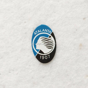 Custom metal Offset Print Oval Soccer metal pin