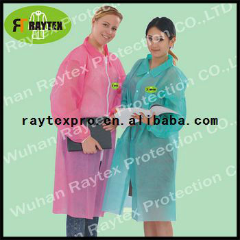 Disposable Colored Lab Coat For Sale(31331)